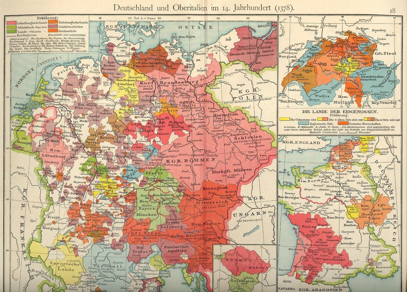 Mittelalter Karte Deutschland