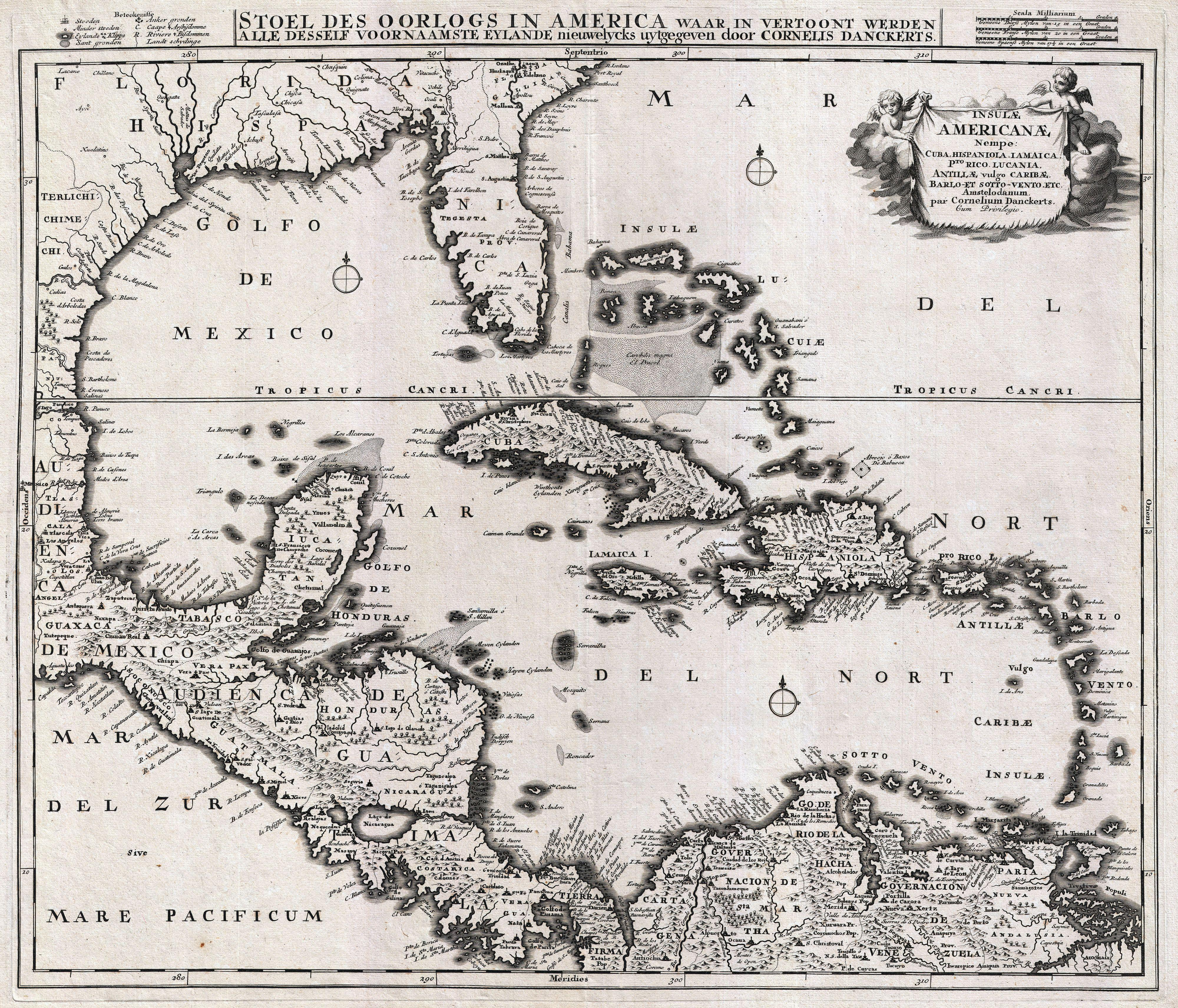 Treasure Map Of Central America And Caribbean Islands